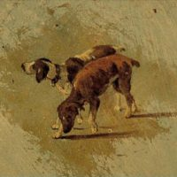 A Dark Brown Dog [by Stephen Crane] (Short Story) - small