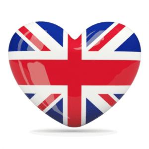 England flag heart United Kingdom - آموزش زبان برای کودکان