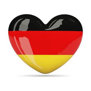 German flag heart Deutschland - آموزش زبان برای کودکان
