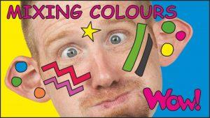 آموزش زبان با شعر mixing colors