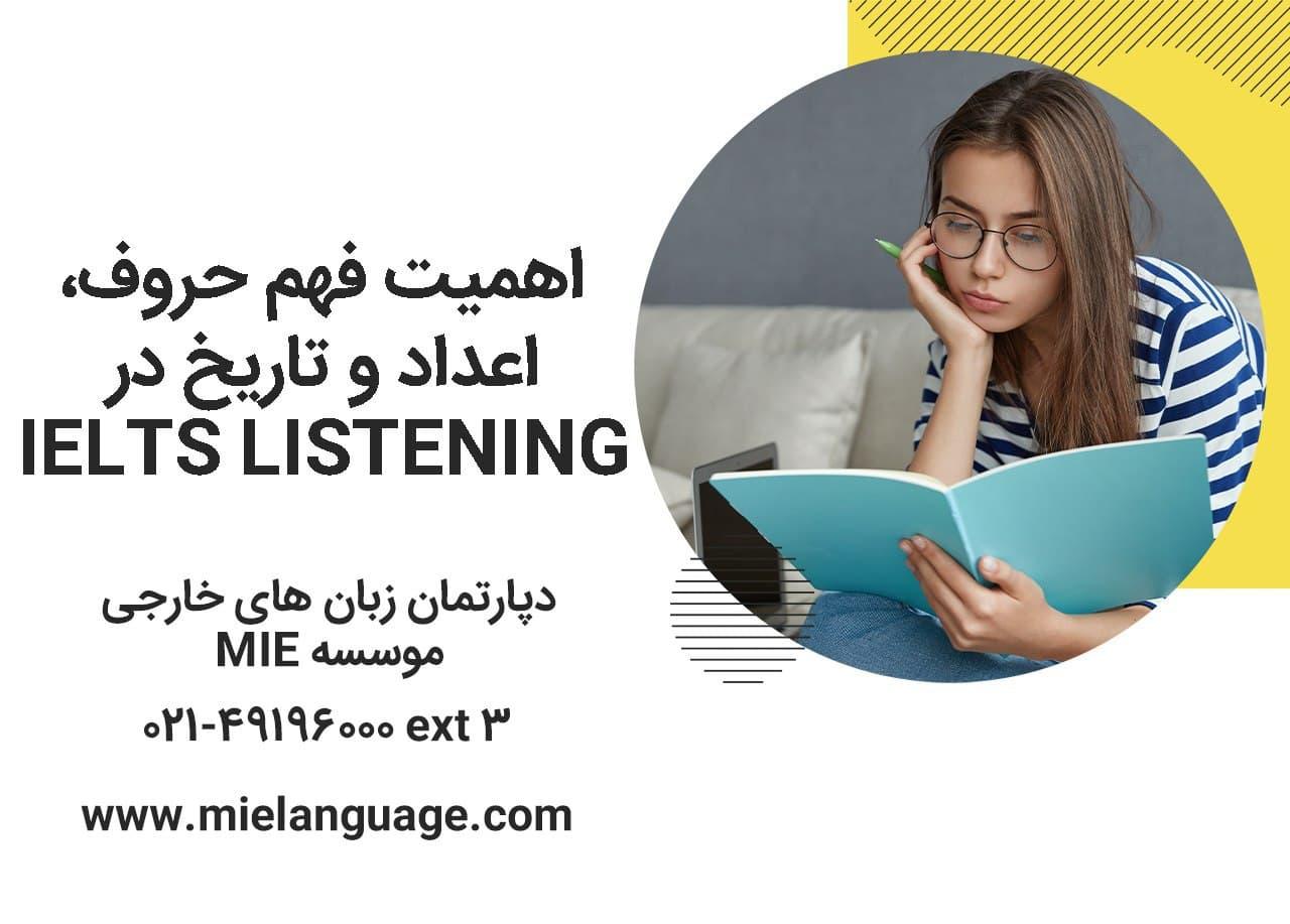 اهمیت فهم حروف، اعداد و تاریخ در IELTS LISTENING