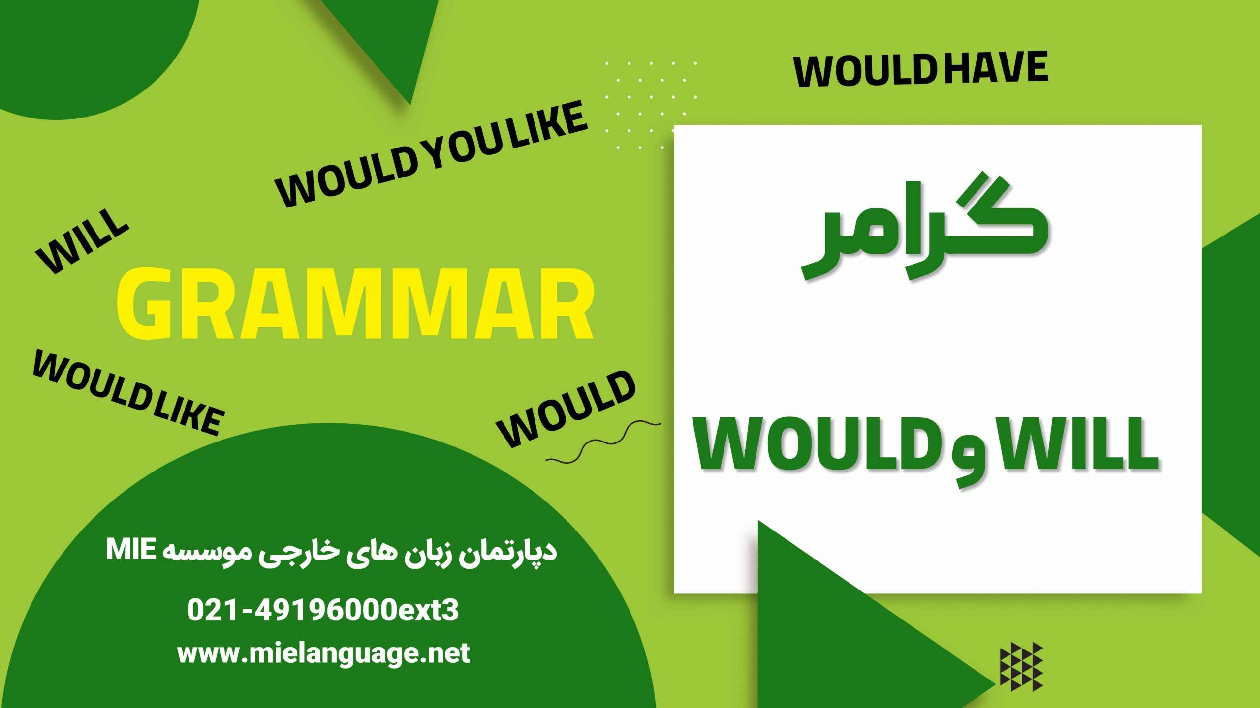 کاربرد گرامر will و would در زبان انگلیسی