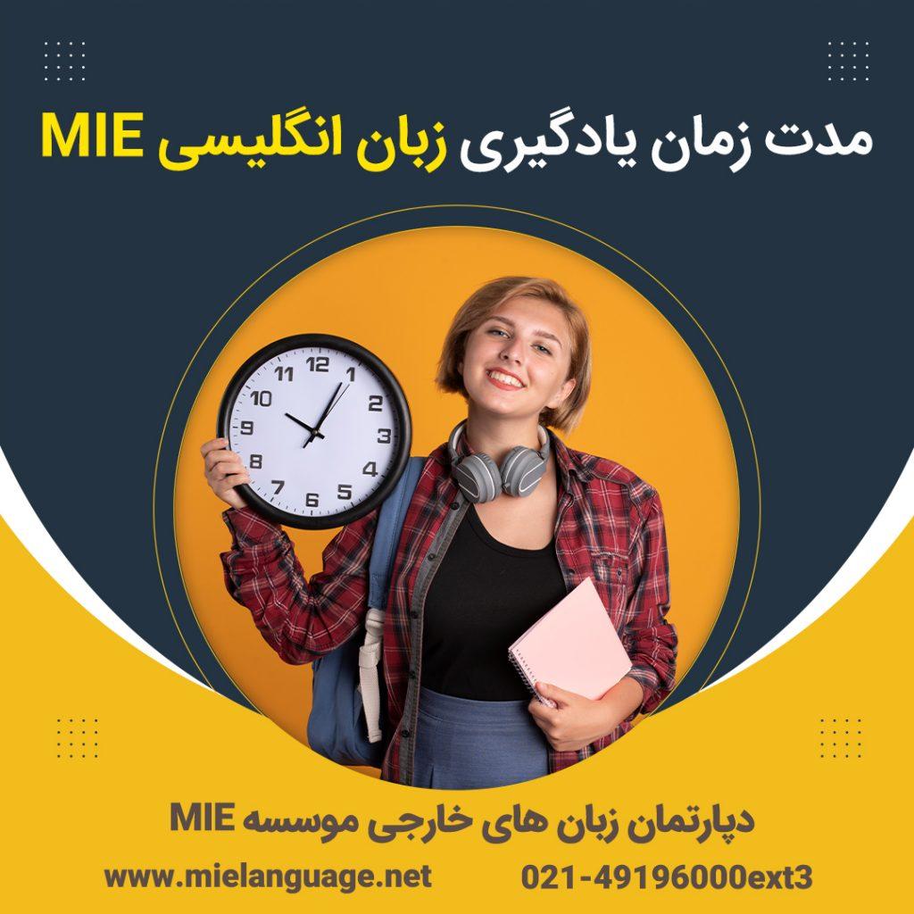 زمان یادگیری زبان انگلیسی